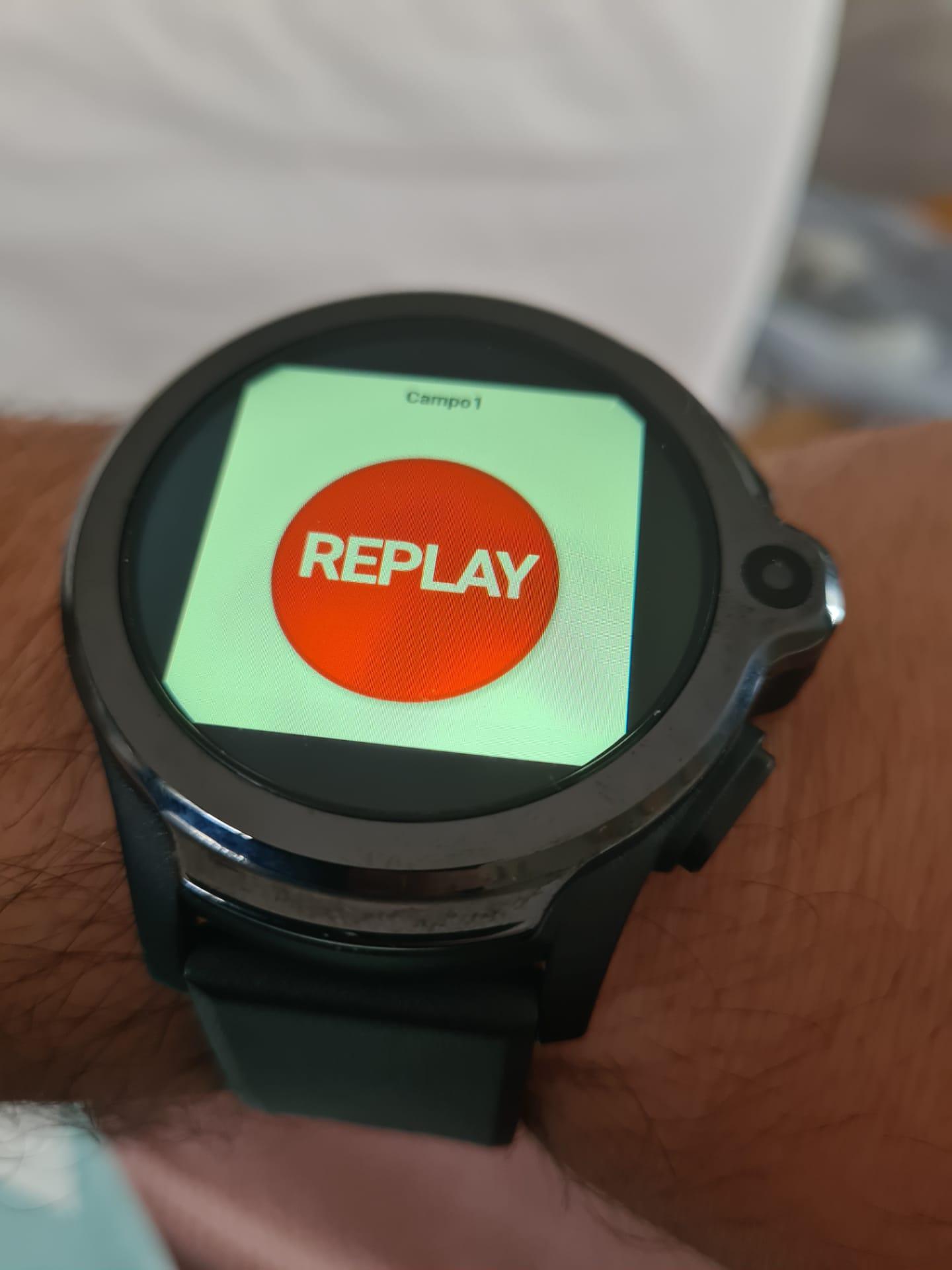 Botão Replay